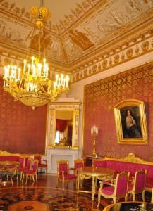 Красная гостиная Юсуповский дворец фото Н. Головина