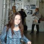 Выставка ЛЕНЭКСПО 2006 Елена Флерова на стенде газеты ДВОРЦЫ САДЫ и ПАРКИ
