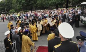 ВСТРЕЧА КРЕСТА АНДРЕЯ ПЕРВОЗВАННОГО В КАЗАНСКОМ СОБОРЕ
