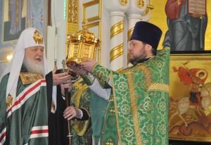 Покровский собор Гатчина Визит Патриарха 2013 апрель Фото Людмилв Калясиной 309
