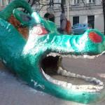 Дракон на Васильевском острове Фото Евгении Калясиной март 2014_