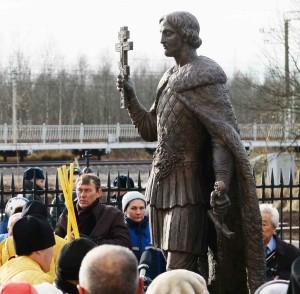 Александр Невский открытие памятника в поселке Апраксин