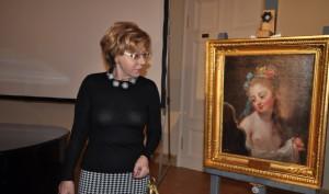 Вера Дементьева и картина МОЛОДАЯ ДЕВУШКА ПЕРЕД ЗЕРКАЛОМ