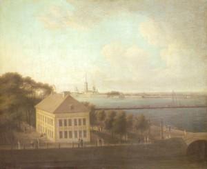 Вид на Неву и Летний дворец Петра I , между 1807 и 1816. х.м. 65,5х81