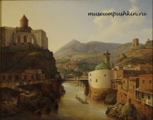 Вид_Тифлиса.Н.Г.Чернецов.1839.Холст.масло.ВМП