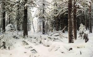 И.И. Шишкин. Зима. 1890. Холст, масло. 125,5 х 204
