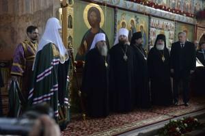 Визит патриарха в монастырь Александра Свирского